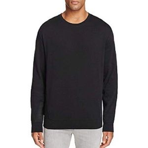 Hugo Boss Divatino Mixed Media Pullover Sweatshirt